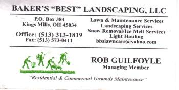Bakers Best Landscaping, LLC  Rob Guilfoyle